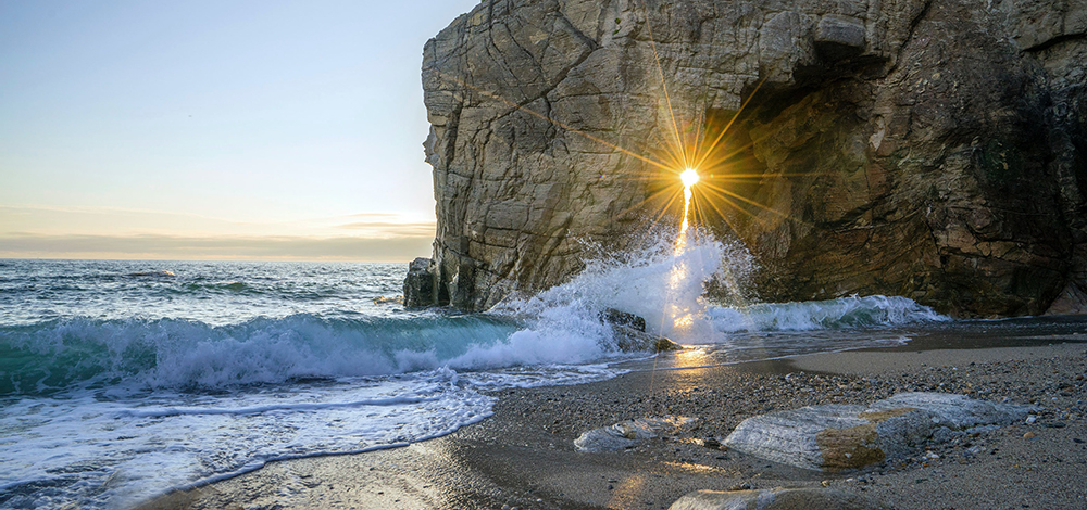 Our magnificence, light, streaming though density, rock into life